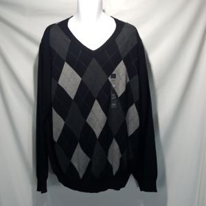 NEW Croft & Barrow Argyle V-Neck Men's Sweater XXL